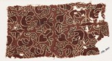 Textile fragment with hamsa, or geese, and quatrefoils