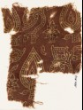Textile fragment with stylized, dotted leaves (EA1990.814)