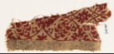Textile fragment with tendrils, leaves, and flowers (EA1990.829)