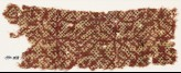 Textile fragment with interlacing tendrils and dots (EA1990.833)