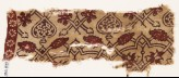 Textile fragment with interlacing tendrils, flowers, and hearts (EA1990.839)