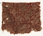 Textile fragment with leaves and quatrefoils (EA1990.842)