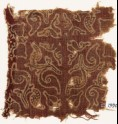 Textile fragment with leaves and quatrefoils (EA1990.843)
