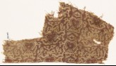 Textile fragment with hearts and tendrils (EA1990.849)