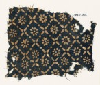 Textile fragment with flowers, dots, and rosettes (EA1990.85)