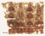 Textile fragment with stylized trees and flower-heads (EA1990.867)