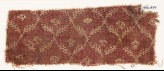 Textile fragment with linked branches and carnations (EA1990.874)