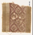Textile fragment with palmettes and scrolls