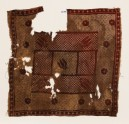 Textile fragment with flowers and cross-hatching (EA1990.893)