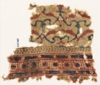Textile fragment with interlacing tendrils and leaves (EA1990.909)