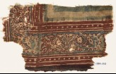 Textile fragment with vine, leaves, and flowers (EA1990.913)