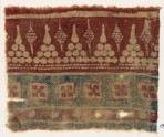 Textile fragment with dots arranged as triangles (EA1990.918)