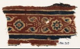 Textile fragment with leaves, rosette, and diamond-shape (EA1990.929)