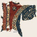 Textile fragment with bands and part of a large circle (EA1990.949.a)