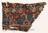 Textile fragment with arches, stylized trees, and rosettes (EA1990.966)