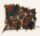 Textile fragment with flowers and leaves (EA1990.967)