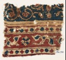 Textile fragment with leaves and quatrefoils (EA1990.972)