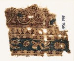 Textile fragment with leaves, rosettes, and vine (EA1990.978)