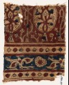 Textile fragment with stylized trees and leaves (EA1990.997)
