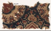 Textile fragment with heart-shaped leaves and parts of medallions (EA1990.1007)
