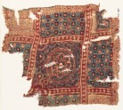 Textile fragment with large medallion, squares, and rosettes (EA1990.1012)