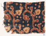 Textile fragment with tendrils, leaves, and flowers (EA1990.1022)