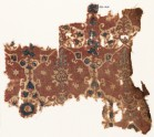 Textile fragment with lobed shapes, possibly leaves (EA1990.1028)