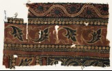 Textile fragment with leaves and dotted vine (EA1990.1039)