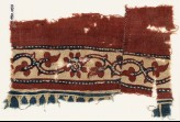 Textile fragment with vine, trefoils, and flowers (EA1990.1056)