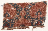 Textile fragment with heart-shaped leaves and tendrils (EA1990.1069)