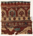 Textile fragment with arches, plants, and stars (EA1990.1071)