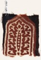 Tab with trefoils and possibly a decorated pole (EA1990.1081)