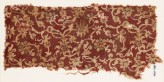 Textile fragment with tendrils, leaves, and flowers (EA1990.1094)