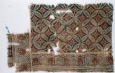 Textile fragment with linked circles and rosettes
