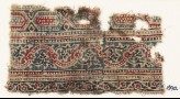 Textile fragment with bands of elongated hexagons and vines (EA1990.1107)