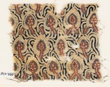 Textile fragment with stylized plants (EA1990.1126)
