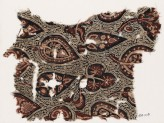 Textile fragment with stylized trees or leaves