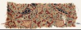 Textile fragment with squares, and possibly medallions and leaves (EA1990.1145)