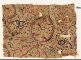 Textile fragment with medallion and plant (EA1990.1146)