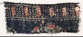 Textile fragment with flowers and leaves