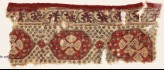 Textile fragment with linked medallions and flowers