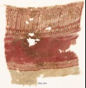 Textile fragment with bodhi leaves and possibly stylized trees