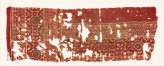 Textile fragment with linked rosettes, squares, and diamond-shapes