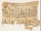 Textile fragment with garden scene (EA1990.1184)