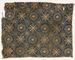 Textile fragment with dotted octagons, stars, and quatrefoils