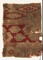 Textile fragment with geometric design