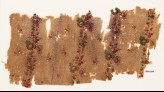 Textile fragment with bands of flowers and berries