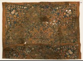 Textile fragment with garlands of flowers