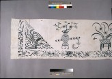 Valance with vases of flowers, phoenix, and dragon