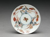 Miniature saucer with flowers and butterflies